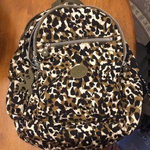 Kipling Leopard Print Backpack